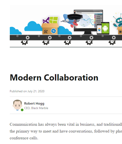 Modern Collaboration Article Snippet.